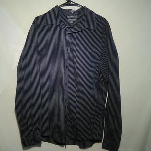 Apt 9 blue stripe dress shirt. Large. #324